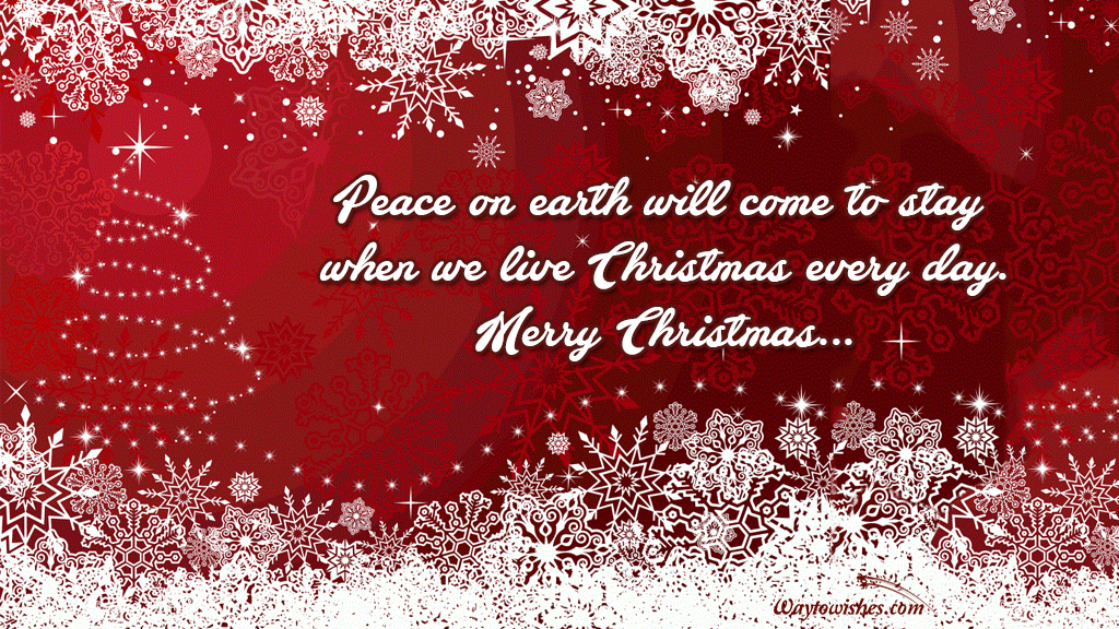 Peace On Earth Will Come