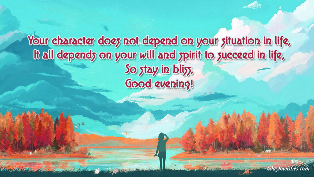 Your character does not depend