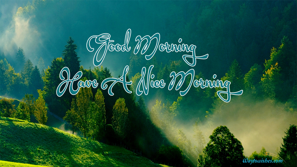 Good Morning Have A Nice Morning