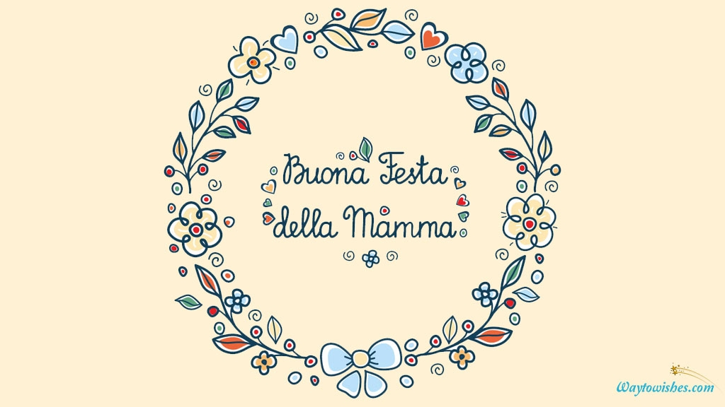 Happy Mothers Day In Italian