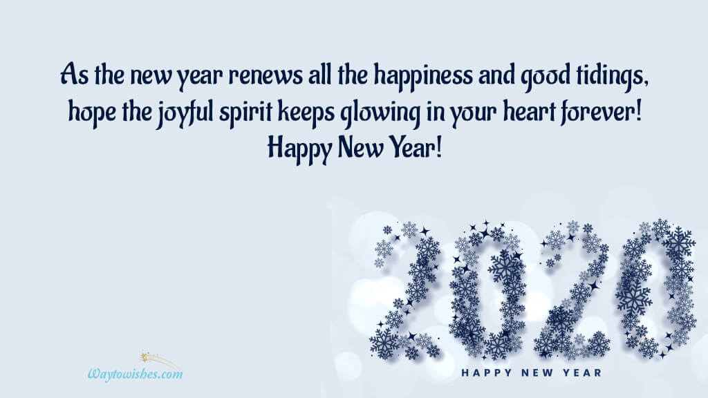 As The New Year Renews