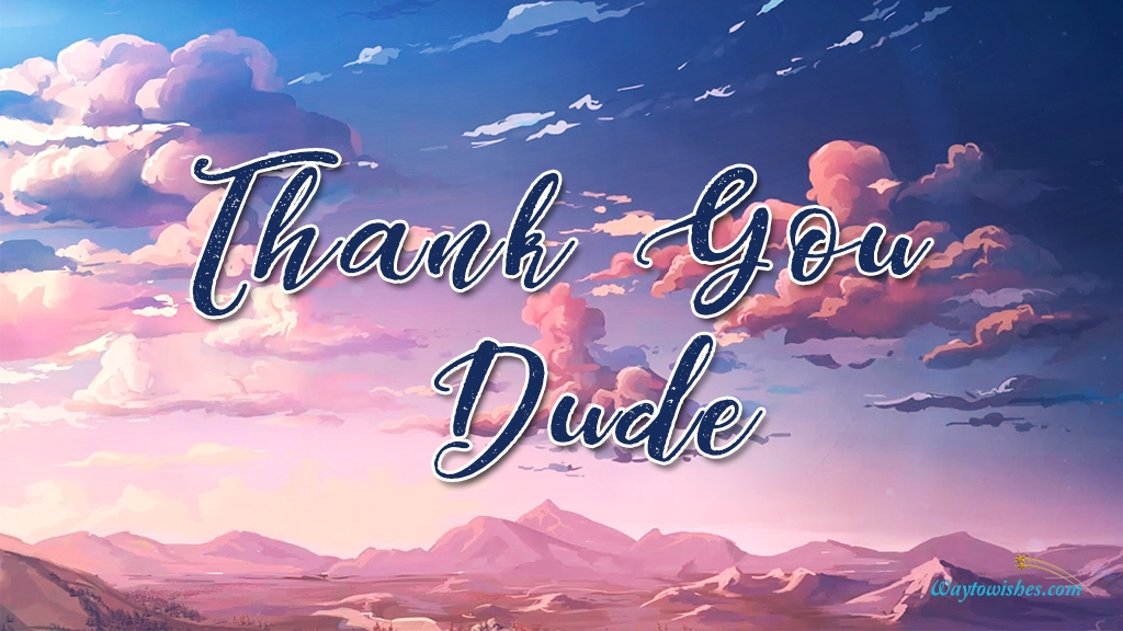 Thank You Dude