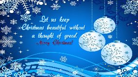 Let Us Keep Christmas Beautiful