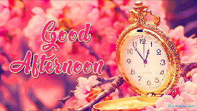 Good Afternoon Clock