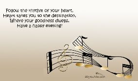 Follow the rhythm of your heart