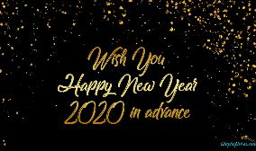 Wish You Happy New Year 2020 In Advance