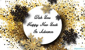 Wish You Happy New Year In Advance