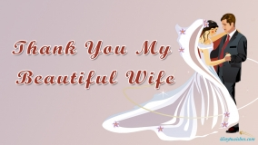 Thank You My Beautiful Wife