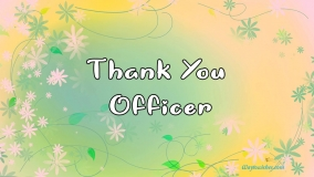 Thank You Officer