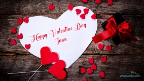 happy valentine day janu