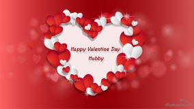 happy valentine day to hubby