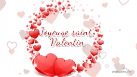 happy valentines day in french