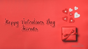 happy valentines day to friends